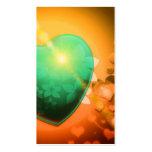 Trullo juguetón romántico del naranja del amor del tarjeta de visita