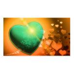 Trullo juguetón romántico del naranja del amor del plantilla de tarjeta de negocio