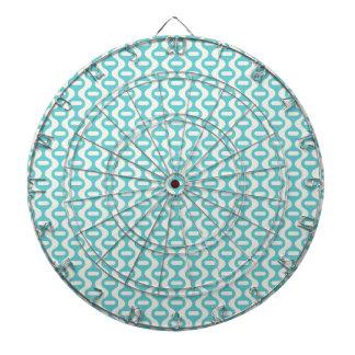Trullo ligero, modelo retro ondulado de la aguamar tablero de dardos