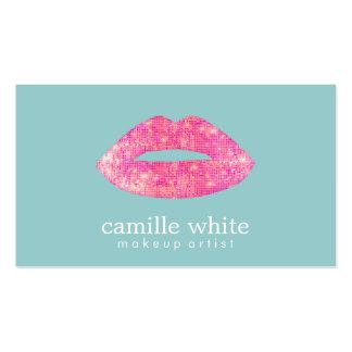 Trullo lindo del salón de belleza de los labios de tarjetas de visita