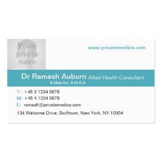Trullo médico simple/tarjeta de visita blanca de l