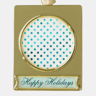 Trullo metálico, lunar, blanco, femenino, de moda, adornos navideños dorados