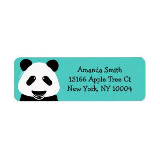 Trullo moderno del oso de panda etiqueta de remitente