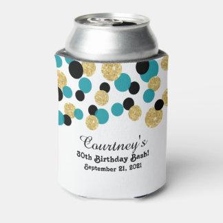 Trullo, negro y trigésimo del confeti el | del enfriador de latas