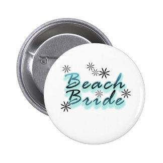 Trullo/novia negra de la playa pin redondo 5 cm