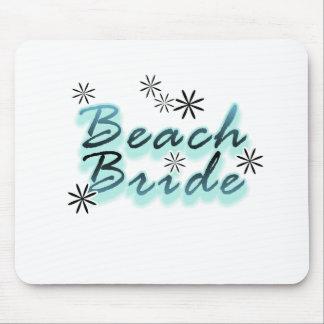 Trullo/novia negra de la playa tapete de ratón
