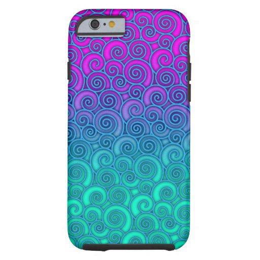 Trullo ondulado de moda de Swirly y extracto Funda De iPhone 6 Tough