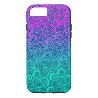 Trullo ondulado de moda de Swirly y extracto Funda iPhone 7