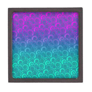 Trullo ondulado de moda de Swirly y extracto rosad Cajas De Regalo De Calidad