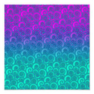 Trullo ondulado de moda de Swirly y extracto rosad Fotografías