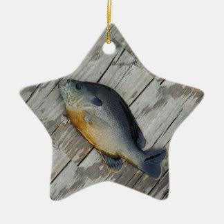 trullo púrpura amarillo azul, pescado del Lepomis  Ornamento De Reyes Magos