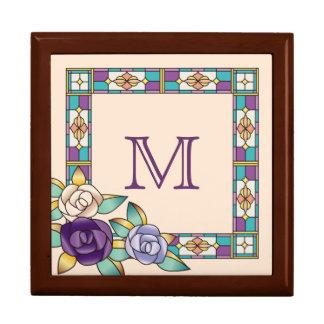 Trullo púrpura del melocotón de los rosas a mano caja de recuerdo
