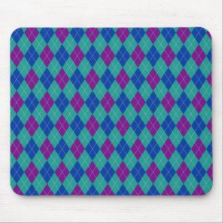 Trullo púrpura e impresión azul de Argyle Mousepad