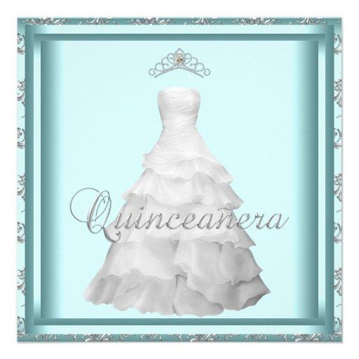 Trullo Quinceanera blanco azul de la tiara del ves Anuncio