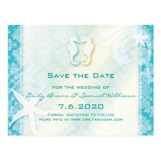 Trullo reserva del boda del caballo de mar de la tarjetas postales