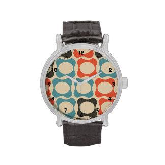 Trullo retro, naranja, de color topo de color salm relojes