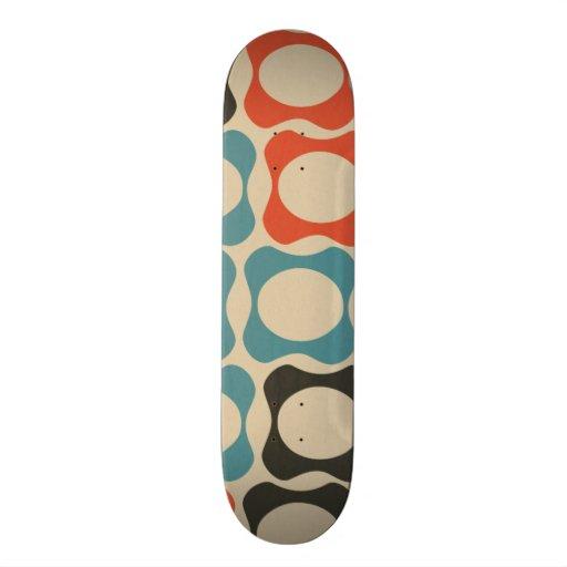 Trullo retro, naranja, de color topo de color salm skate boards