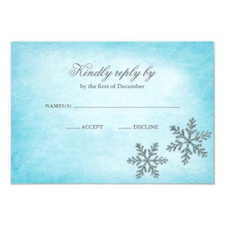 Trullo RSVP de los copos de nieve de la chispa del Invitación 8,9 X 12,7 Cm