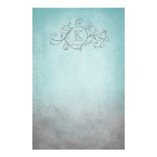Trullo rústico y Flourish bohemio gris Papeleria De Diseño