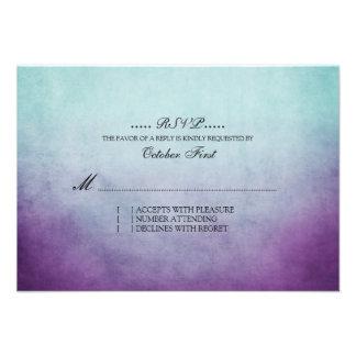 Trullo rústico y RSVP que se casa bohemio púrpura Invitaciones Personalizada