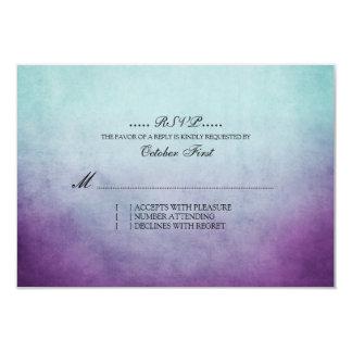 Trullo rústico y RSVP que se casa bohemio púrpura Invitación 8,9 X 12,7 Cm