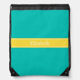 Trullo sólido, monograma del nombre de la cinta de mochilas