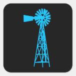 Trullo Windmill.png Calcomanía Cuadradas Personalizada