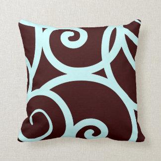 trullo y almohada abstracta del modelo del marrón