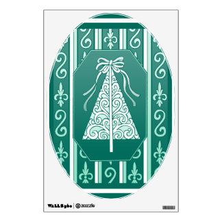 Trullo y árbol de navidad de las rayas de los vinilo