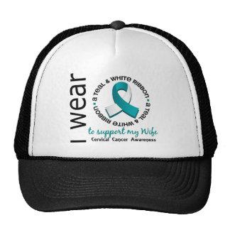Trullo y blanco para mi cáncer de cuello del útero gorra