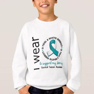 Trullo y blanco para mi cáncer de cuello del útero sudadera