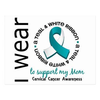 Trullo y blanco para mi cáncer de cuello del útero postales