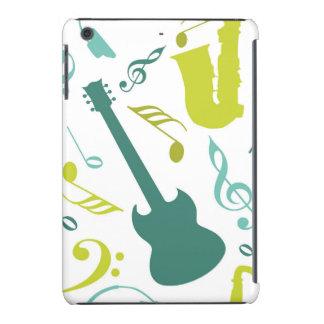 Trullo y diseño verde de la música de jazz funda para iPad mini retina