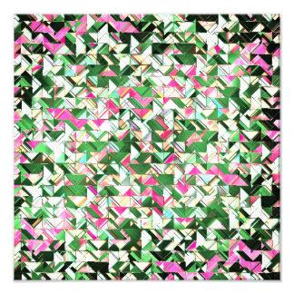 Trullo y explosión geométrica del rosa arte fotográfico