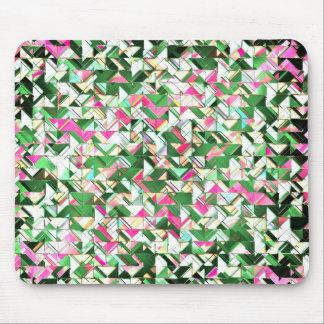 Trullo y explosión geométrica del rosa tapetes de ratón