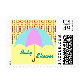 Trullo y franqueo púrpura de la fiesta de timbres postales