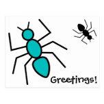 Trullo y hormigas negras del vector
