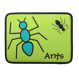 Trullo y hormigas negras del vector (fondo verde) fundas para macbooks