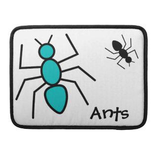 Trullo y hormigas negras del vector fundas para macbook pro