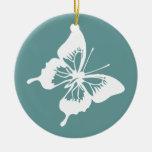Trullo y mariposa blanca ornaments para arbol de navidad