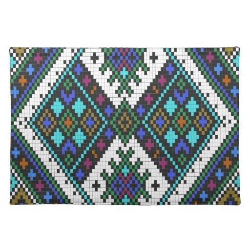 Trullo y modelo azteca púrpura del pixel mantel