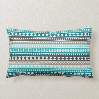 Trullo y modelo azteca tribal gris almohada