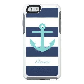 Trullo y modelo azul del ancla y de las rayas funda otterbox para iPhone 6/6s