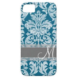 Trullo y modelo blanco del damasco de la pizarra iPhone 5 Case-Mate coberturas
