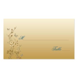 Trullo y oro florales con las mariposas Placecards Tarjetas De Visita