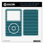 trullo y rayas negras skins para iPod classic