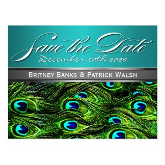 Trullo y reserva verde del boda del pavo real las tarjetas postales