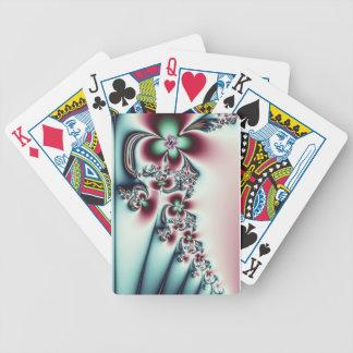 Trullo y rosa florales baraja de cartas