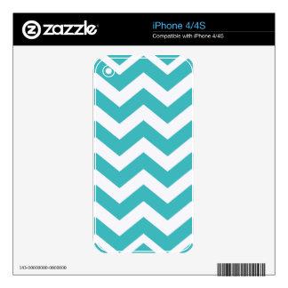 Trullo y zigzags blancos iPhone 4 skin