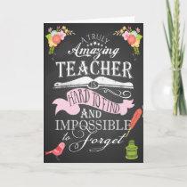 Truly amazing  teacher appreciation week thank you card
